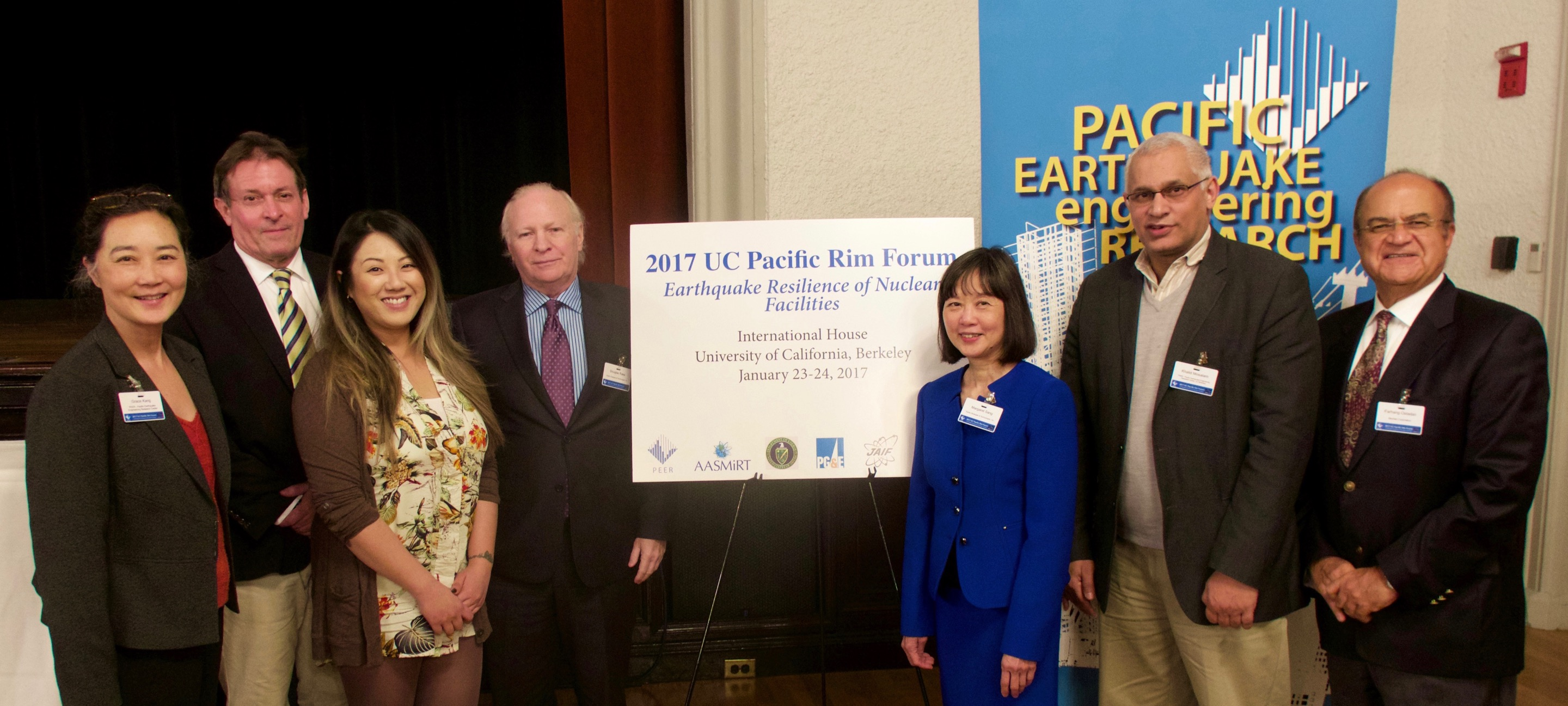 Pacific Rim Forum Organizing Committee: Grace Kang PEER, David McCallen LBNL/UCOP, Carol Chien LBNL, Doug Rake and Margaret Sang Rake Strategies, Khalid Mosalam UC Berkeley, Farhang Ostadan Bechtel