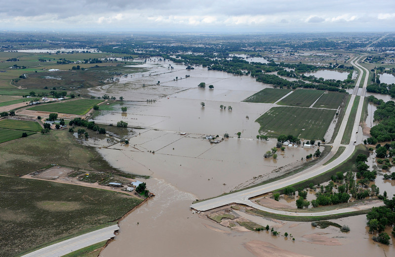 Area above Greeley, Colo. on Sept. 16, 2013 showing flooding